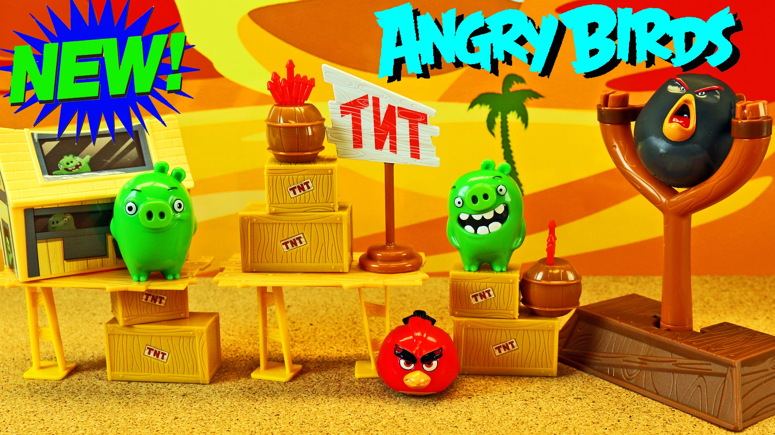 New Angry Birds Movie Toys Red Bird Giant Bomb Destroy Bad Piggies