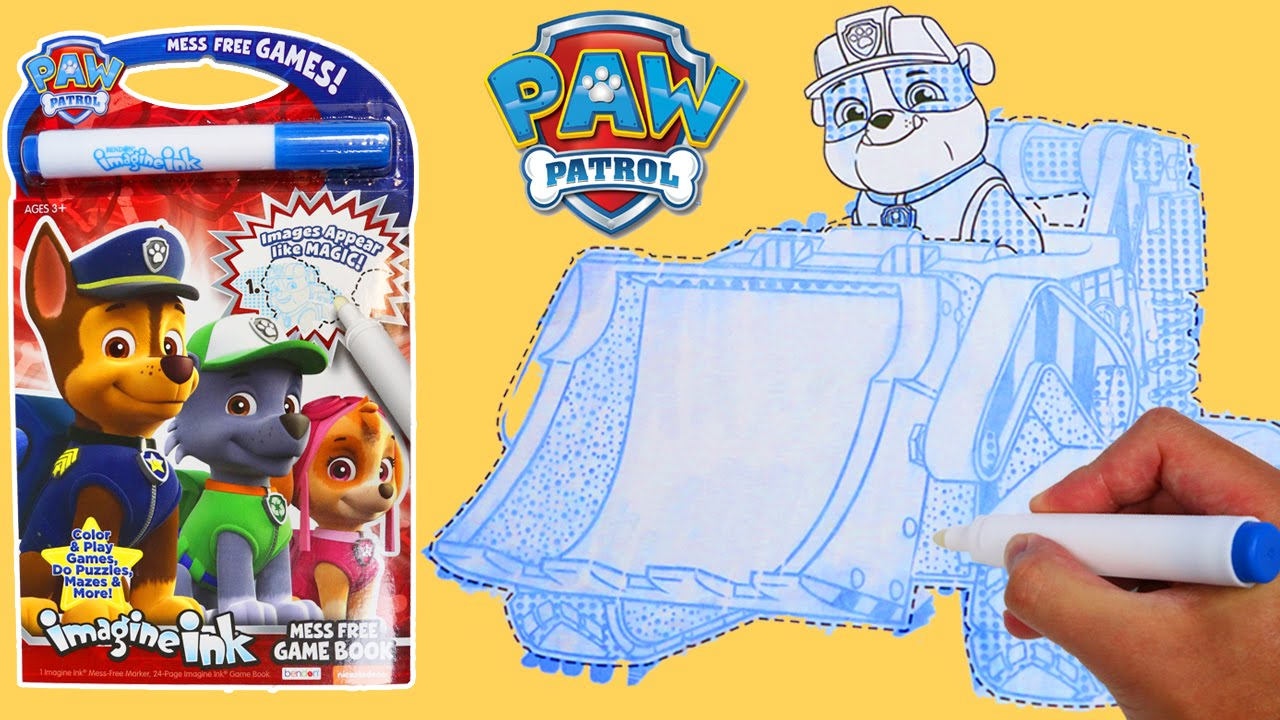 paw patrol imagine ink part 2 magic marker coloring activity book with fun puzzles games toys on youtube - Magic Marker Coloring Book